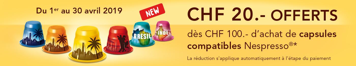 Capsules compatibles Nespresso®*